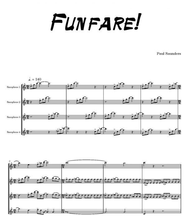 Paul Saunders Funfare Score
